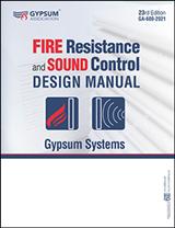 Fire Resistance and Sound Control Design Manual, PDF Download - GA-600-2021