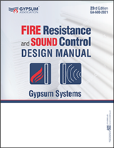 Fire Resistance and Sound Control Design Manual Package (Textbook + PDF Download) - GA-600-2021-PKG