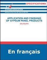 Pose Et Finition Des Panneaux De Gypse, PDF Telechargement - GA-216-2016-FR